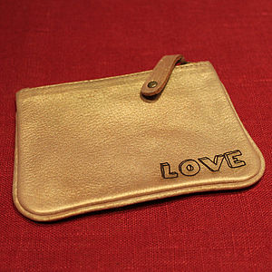 Helena: Gold Leather Coin Purse