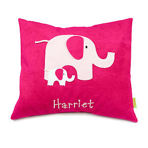Personalised Elephant Cushion