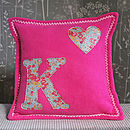 Liberty Print Initial Fleece Cushion