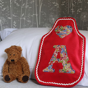 Liberty Initial Hot Water Bottle Cover - home