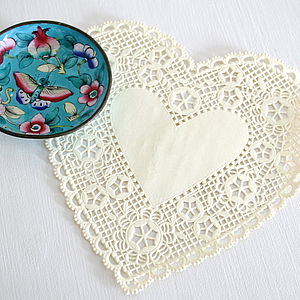 Heart Paper Doilies - party decorations