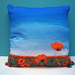 Breakthrough Poppy Flower Cushion Cover