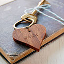 Personalised Wooden Heart Keyring