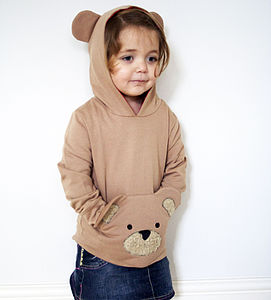 Hooded Teddy Sweatshirt - jumpers & cardigans