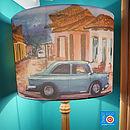 Cuban Car Scenic Print Lampshade