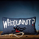 'Whodunnit?' Wool Appliqué Cushion