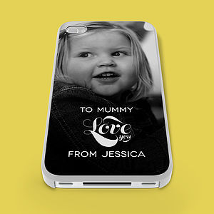 Personalised Photo 'Love You' Phone Case - bags & purses