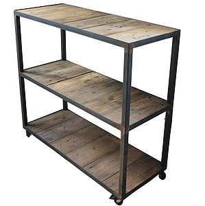 Handmade Upcycled Industrial Bakers Cart - furniture