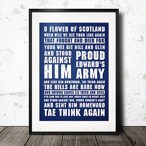 Personalised Favourite Rugby Songs Poster - Rugby World cup