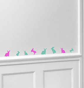 Mini Bunny Wall Stickers - kitchen