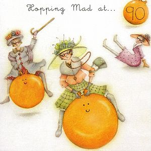 Hopping Mad At 90 Ninety Birthday Card