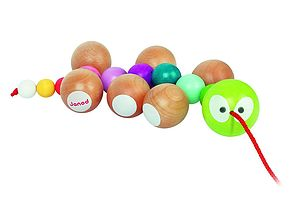 Wooden Caterpillar Pull Along - toys & games