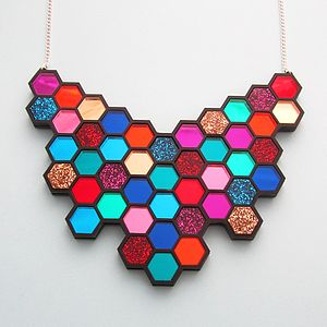 Giant Hexagon Necklace - women's jewellery
