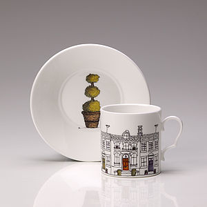 Street Scene Espresso Cup And Saucer