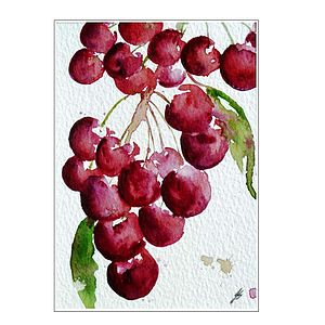 Cherries Original Painting - home accessories