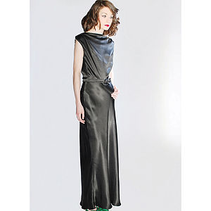 Cate Full Length Backless Ring Dress