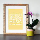 Yellow with oak frame
