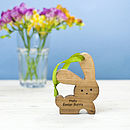 Personalised Easter Bunny Ornament