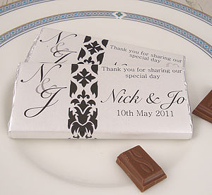 Designer Chocolate Wedding Favours - edible favours