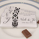 Designer Chocolate Wedding Favours