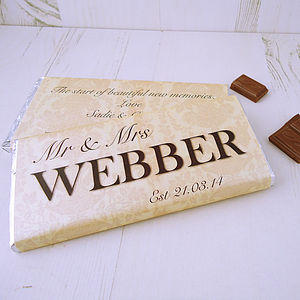 Wedding Day Chocolate - personalised