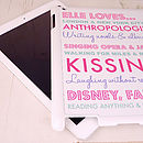 Personalised Loves Case For iPad Two,Three,Four