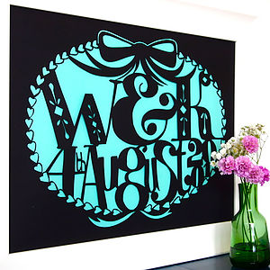 Personalised Initial And Date Papercut