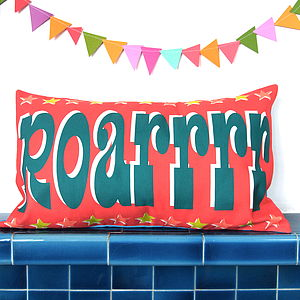Roarrrr Cushion Cover - cushions