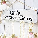 Personalised Jewellery Hanging Sign