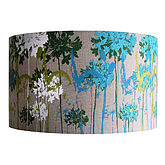 Floral Screen Printed Linen Lampshade - trends