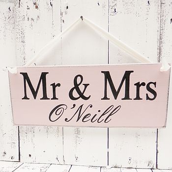 Personalised Mr & Mrs Monogram Wedding Signs