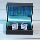 Boxed 40th Cufflinks