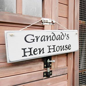 Grandads' Personalised Wooden Sign - signs