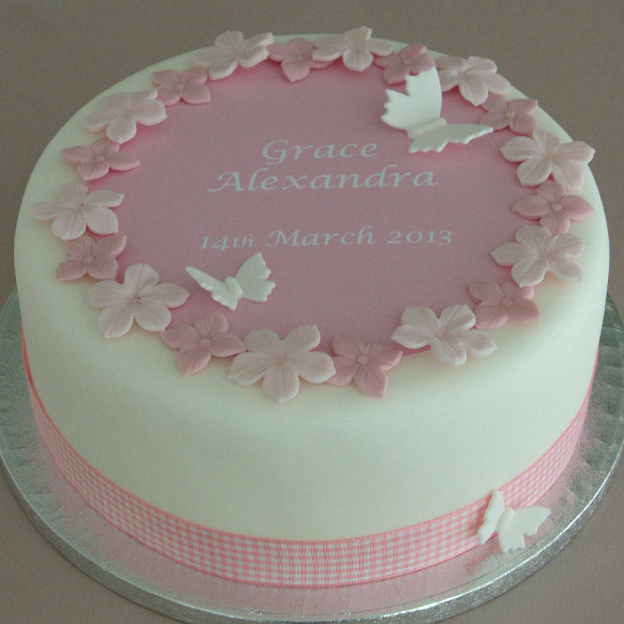personalised girls christening cake kit by clever little ...