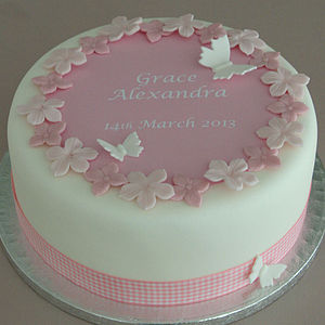 Personalised Girls Christening Cake Kit - home