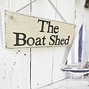 Personalised Rustic Beach Hut Sign