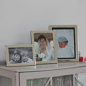 Silver Plated Photo Frame - 25th anniversary: silver