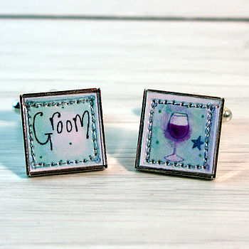 Groom Wine Cufflinks