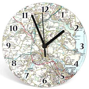 Personalised Map Clock - clocks
