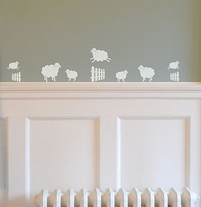 Mini Jumping Sheep Wall Stickers - kitchen