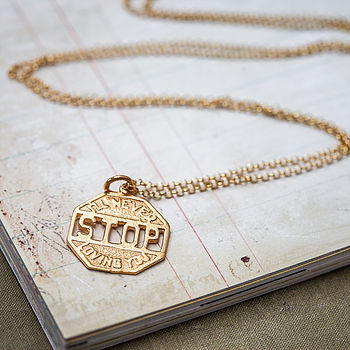 'I'Ll Never Stop' Gold Necklace