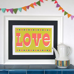 Circus Love Print - children's pictures & paintings