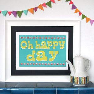 Circus Oh Happy Day Print - posters & prints