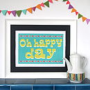 Circus Oh Happy Day Print