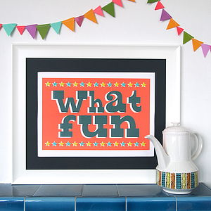Circus What Fun Print - pictures & prints for children