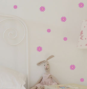 Set Of Mini Daisy Wall Stickers - bedroom