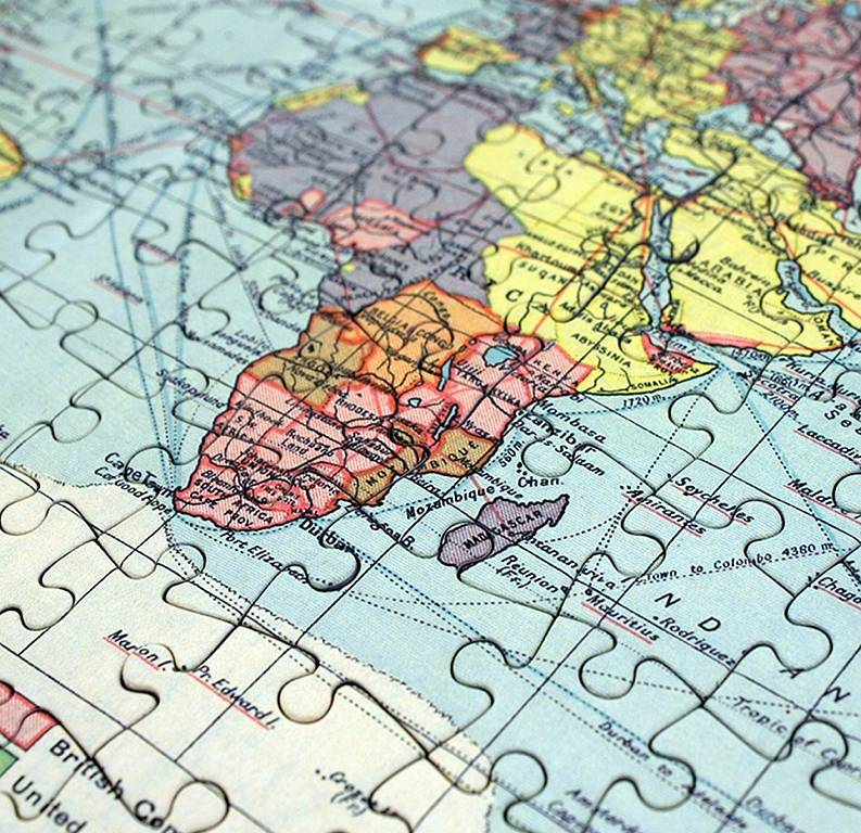 personalised world map jigsaw puzzle by thelittleboysroom