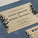 Traditional Floral Wedding Invite