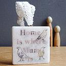 'Home Is Where Mum Is' Blackbird Decoration