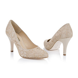 Amara Lace Wedding Court Shoes